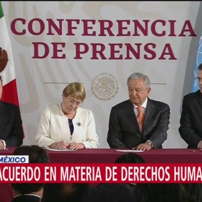 Bachelet firma acuerdo con México en materia de derechos humanos