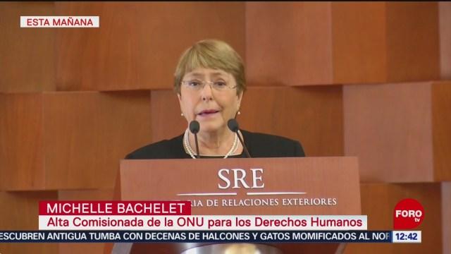 Bachelet se pronuncia por derecho a la reparación y la verdad de víctimas