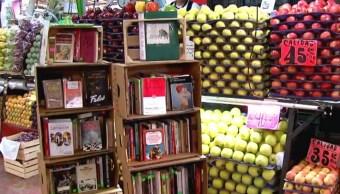 Entre frutas y legumbres, así es la biblioteca de la Central de Abasto en la CDMX