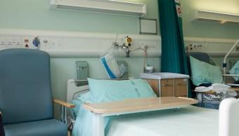 Fotografía que muestra las camas de un hospital, 3 abril 2019