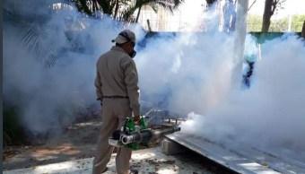 Foto: Campaña contra el mosco transmisor de zika, 15 de abril 2019. Twitter @SaludCampeche