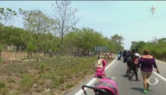Foto: Caravana Migrante Reagrupa Sigue Trayecto Chiapas 23 de Abril 2019