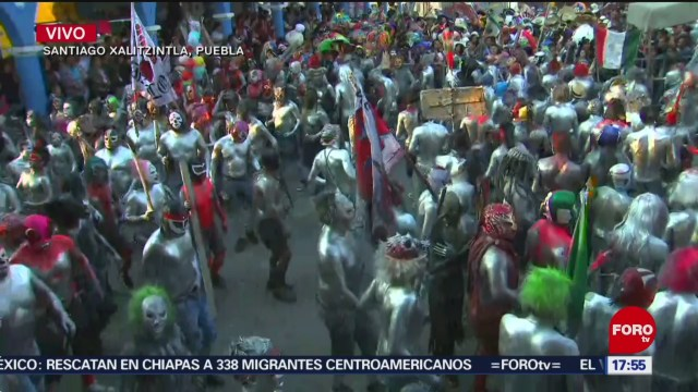 Foto: Celebran carnaval en municipio aledaño al Popocatépetl