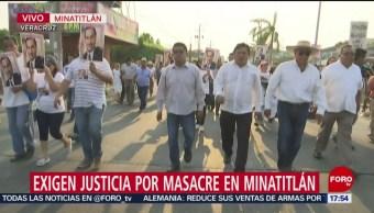 Foto: Ciudadanos de Minatitlán marchan para exigir justicia y seguridad
