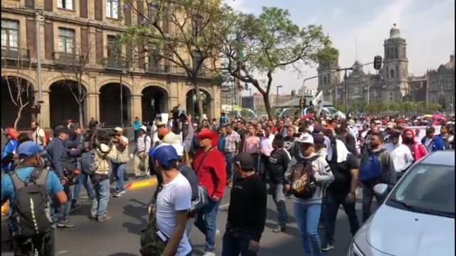 FOTO CNTE marcha este viernes en la CDMX (Noticieros Televisa 5 abril 2019