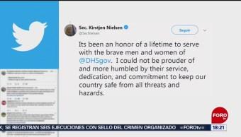 FOTO: Confirma Nielsen que fue ella quien renunció al cargo, 7 de abril 2019