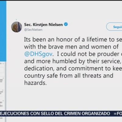 Confirma Nielsen que fue ella quien renunció al cargo