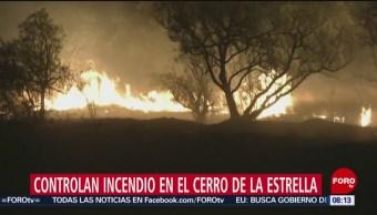 FOTO: Controlan incendio en el Cerro de la Estrella, 13 de abril 2019
