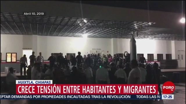 Foto: Crece tensión entre pobladores de Chiapas y caravana migrante
