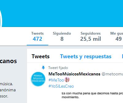 Twitter Me Too de músicos mexicanos cierra y lamenta perjuicios