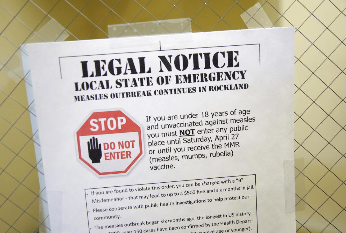 Foto: Declaran estado de emergencia por sarampión en Rockland, NY, 27 de marzo de 2019, Estados Unidos