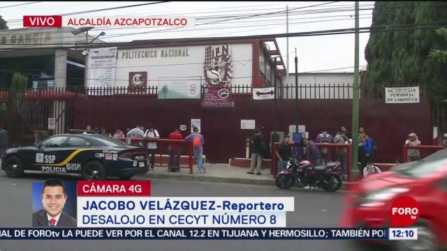 Desalojan Cecyt de Azcapotzalco por amenaza de bomba