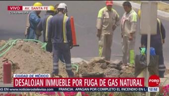 Desalojan inmueble por fuga de gas natural en Santa Fe, CDMX