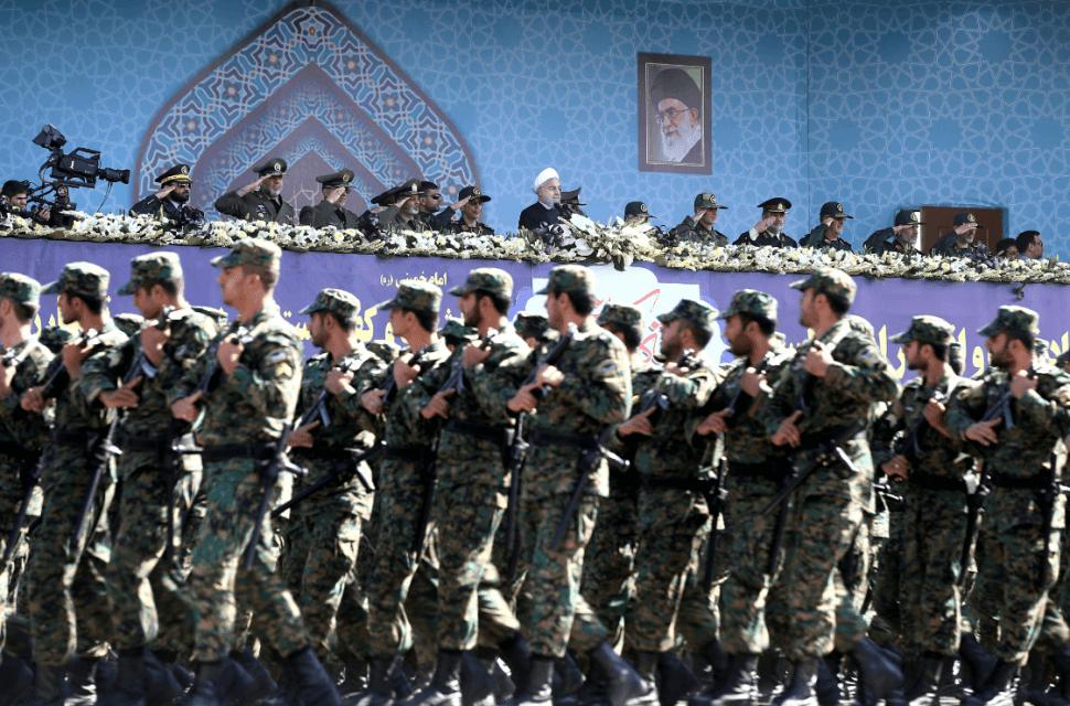 Foto: Desfile de la Guardia Nacional iraní, 22 de septiembre de 2017, Teherán