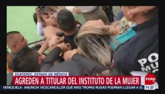 Desgreñan a titular del Instituto de las Mujeres en Ecatepec