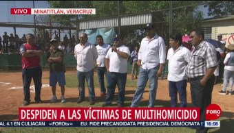 FOTO: Despiden a las víctimas del multihomicidio en Minatitlán, 21 ABRIL 2019
