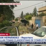 Foto: Detectan túnel en zona de toma clandestina en Tultitlán