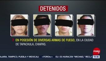 FOTO:Detienen a cuatro presuntos integrantes de la pandilla 'Barrio 18' en Chiapas, 20 ABRIL 2019