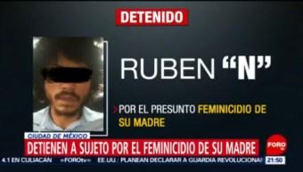 FOTO:Detienen a sujeto por el feminicidio de su madre en CDMX, 7 de abril 2019
