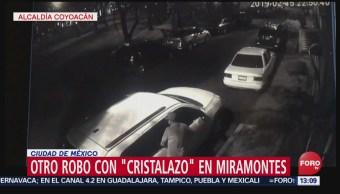 Foto: Difunden nuevo video de otro robo con 'cristalazo' al sur de CDMX