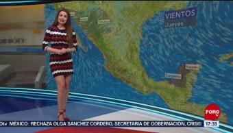Foto: El clima, con Mayte Carranco del 4 de abril de 2019