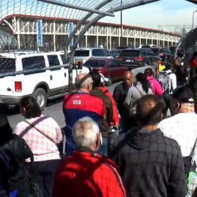 Persisten crisis, caos y retrasos para cruzar la frontera de Ciudad Juárez a El Paso, Texas