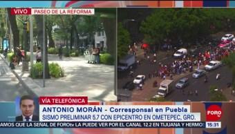 Foto: Puebla fue perceptible el sismo con epicentro en Ometepec, Guerrero