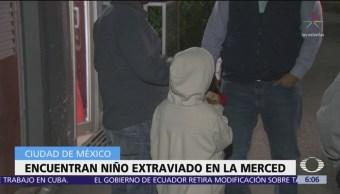 Encuentran a niño extraviado en La Merced, CDMX