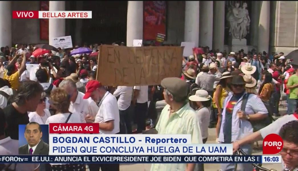 Foto: Estudiantes y académicos exigen fin a la huelga de la UAM