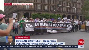 """Foto: Estudiantes y académicos marchan """"en defensa de la UAM"""""""