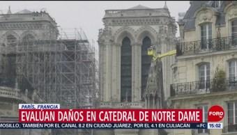 Foto: Evalúan daños en catedral de Notre Dame