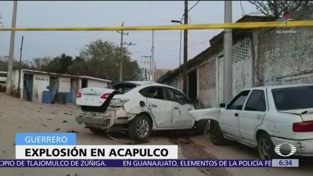 Explota coche cerca de comandancia de la UPOEG en Xaltianguis, Acapulco