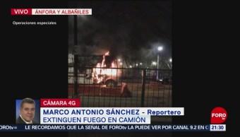 Foto: Incendio Camión Mudanzas Alcaldía Venustiano Carranza 1 de Abril 2019