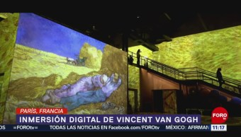 Fábrica se transforma y proyecta obras de Van Gogh