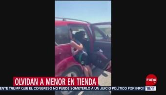 Foto: Familiares olvidan a menor en tienda de autoservicio