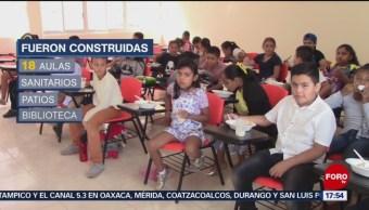 Foto: Festejan el Día del Niño regresando a escuela reconstruida