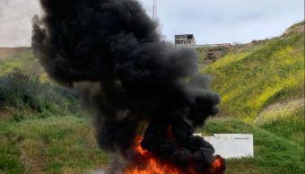Foto: La incineración se llevó a cabo en el 28 Batallón de Infantería de la ciudad de Tijuana y 23 Regimiento de Caballería Motorizado de la ciudad de Mexicali, el 6 de abril de 2019 (Twitter @FGRMexico)