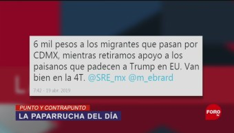 Foto: Flujo Migratorio Apoyo Paparrucha Del Día CDMX 22 de Abril 2019