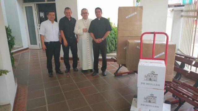 Foto: La Diócesis de Cúcuta, Colombia, donó vino y hostias a la iglesia de Venezuela. El 12 abril de 2019