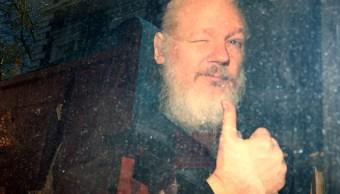 Foto: Julian Assange, fundador de WikiLeaks, llega a la Corte de Magistrados de Westminster, luego de ser arrestado en Londres, Reino Unido. El 11 de abril de 2019