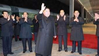 Foto: El líder norcoreano, Kim Jong-un, viaja en tren a Rusia. El 23 de abril de 2019