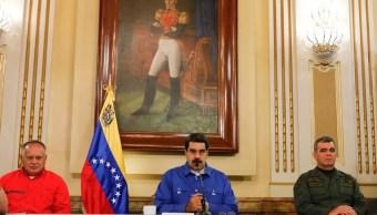 Foto: El presidente de Venezuela, Nicolás Maduro, ofrece un mensaje en cadena nacional. El 30 de abril de 2019