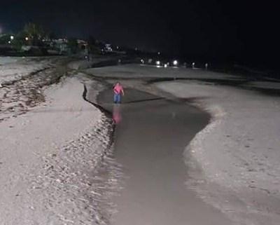 Mar se aleja 70 metros en Puerto Telchac, Yucatán