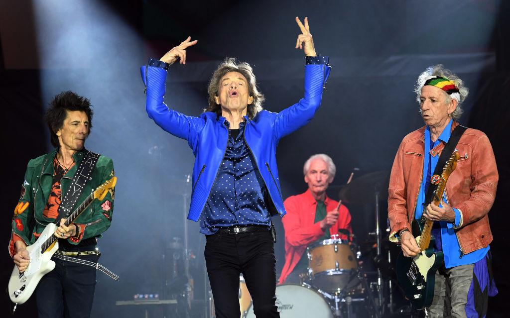 Foto: Ronnie Wood, Mick Jagger, Charlie Watts y Keith Richards de The Rolling Stones se presentan en el Principality Stadium en Cardiff, Gales. El 15 de junio de 2018