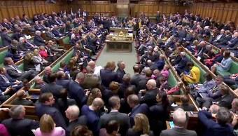 Foto: Diputados británicos votan sobre el Brexit en el Parlamento de Londres. El 3 de abril de 2019