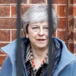 Foto: La primera ministra británica, Theresa May, deja Downing Street en Londres, Reino Unido. El 1 de abril de 2019