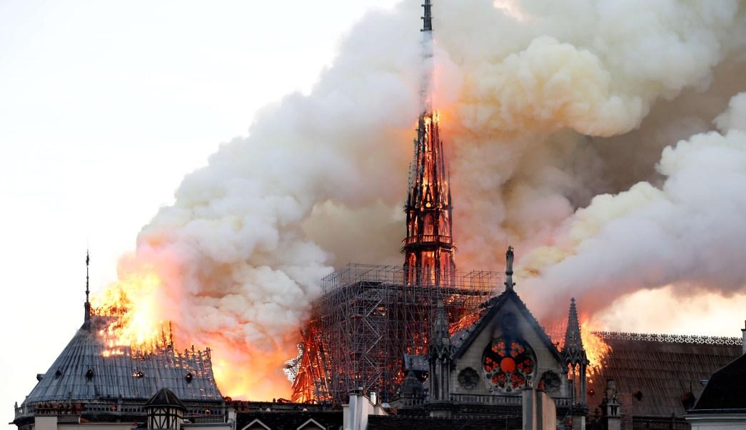Foto: Incendio en la Catedral de Notre Dame en París, Francia. El 15 de abril de 2019