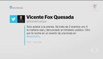 Foto: Fox Agradece Amlo Solicitud Seguridad 8 de Abril 2019