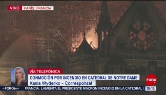 Foto: Fuera de control incendio en catedral de Notre Dame