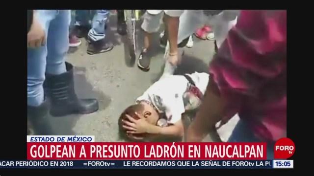 Foto: Golpean a presunto ladrón en Naucalpan